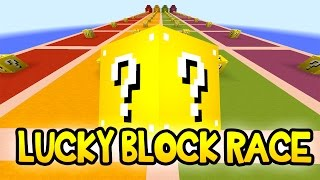 """Minecraft Modded Lucky Blocks """"THE NEW LUCKY BLOCK RACE!"""" w/ The Pack"""