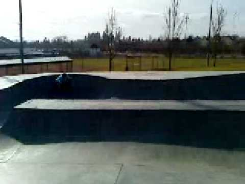 Nick at beaverton skate park. (Tweaked melon)