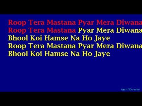 Video Rup Tera Mastana - Kishore Kumar Full Hindi Karaoke with Lyrics download in MP3, 3GP, MP4, WEBM, AVI, FLV January 2017