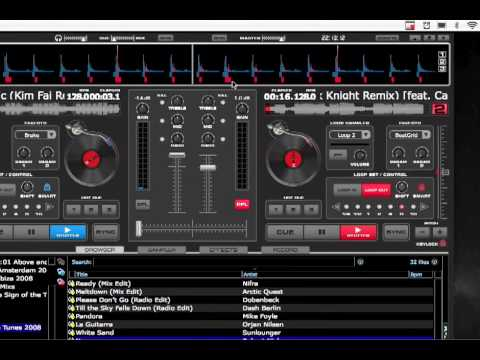 How to use Virtual DJ. Learn how to easily mix by using loops and the crossfade.