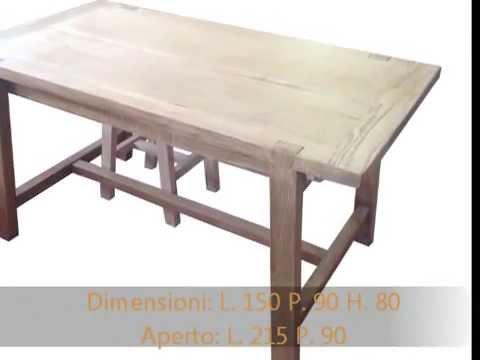 Tavolo tavoli fratini da cucina apribili allungabili in rovere massello