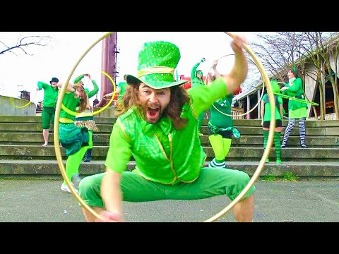 St. Patties Day - You ever catch a leprechaun with a golden hoop? Check out Seattle hoopers, in this very green Saint Patrick's day group hooping production to an Irish Jig so...