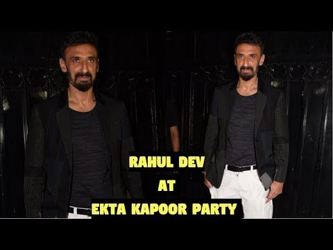 Rahul Dev at Ekta Kapoor Party After Screening Web Series The Test Case