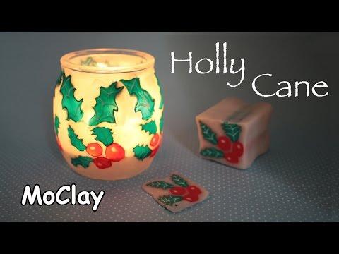 polymer clay tutorial – portacandele natalizio