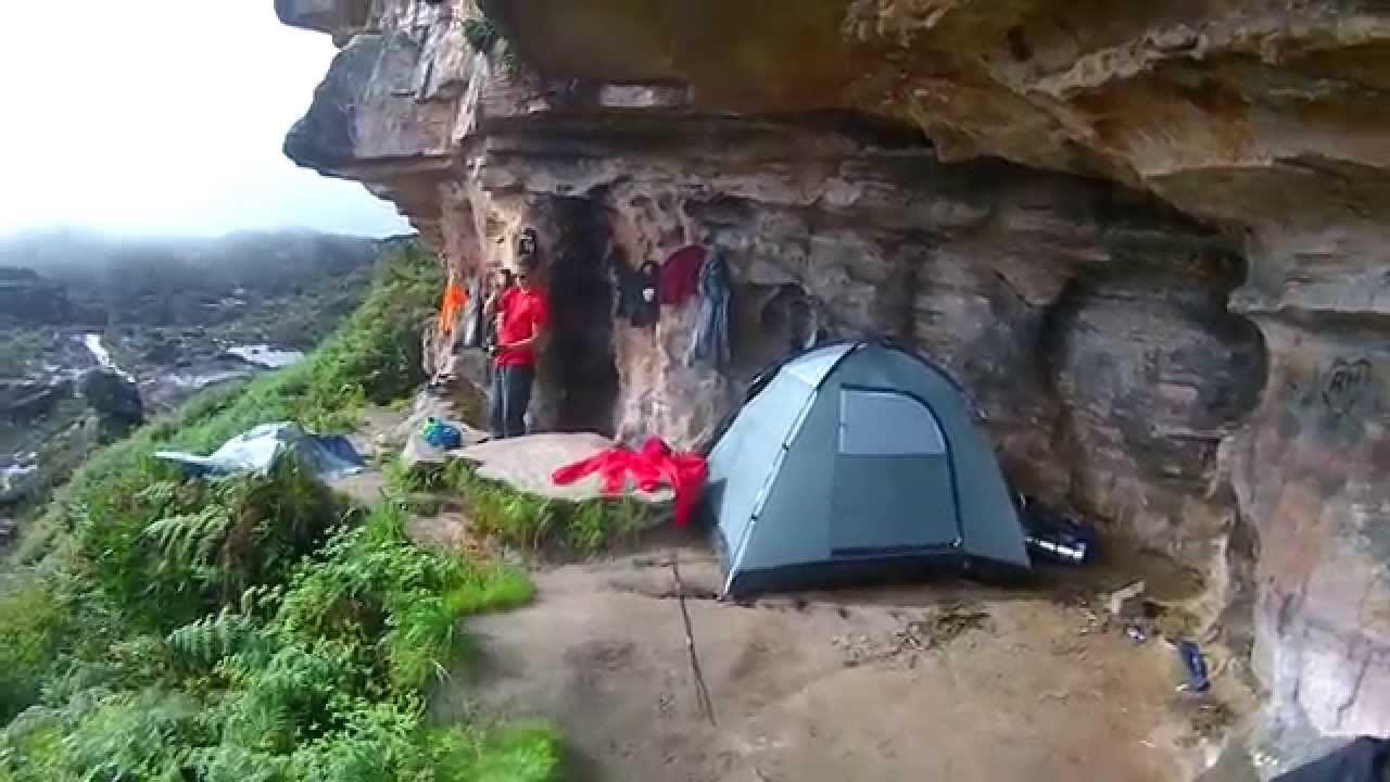 Acampamento na gruta Hotel Índio no Monte Roraima