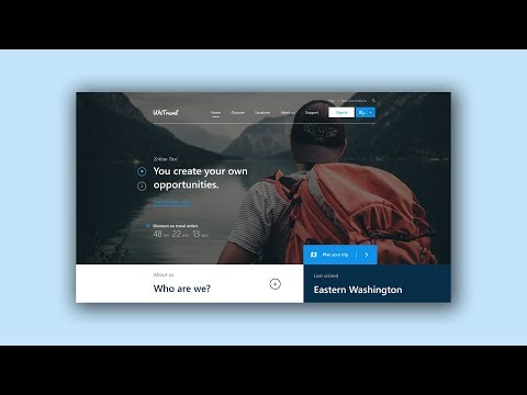 Web Design Speed Art #5 - Travel website [Adobe XD]