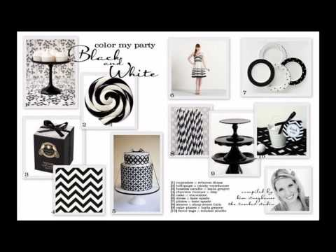Awesome Black and white party decorations ideas