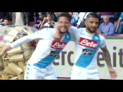 Il gol di Insigne - Napoli - Cagliari 3-1 - Giornata 35 - Serie A TIM 2016/17