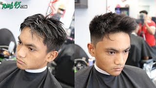 Textured Number 1 Fade on Stubborn Mens Hair