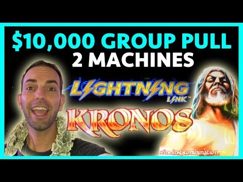 😱WHOA BABY!💰$10,000 Group Pull!⚡Lightning Link➕Kronos🍸Cosmo LAS VEGAS ✦ BCSlots