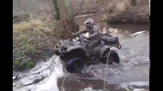 8. Yamaha GRIZZLY 700 x4 , 660 , KYMCO MXU 500 DX in water rzeczka