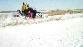 2. Polaris Frontier Edge 2 up Sled Snowmobile
