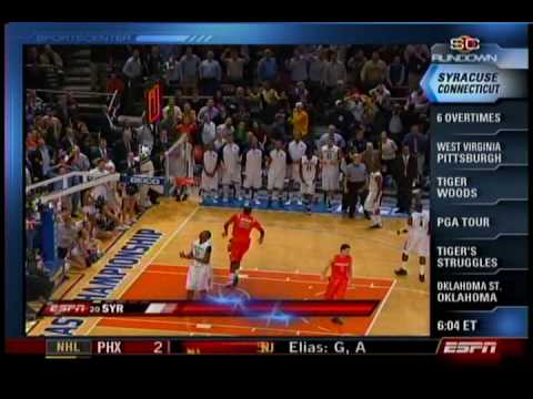 Syracuse's 6OT Win over Connecticut 2009 (Sportscenter Highlights)