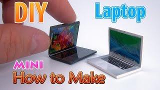 DIY Realistic Miniature Laptop | DollHouse | No Polymer Clay!