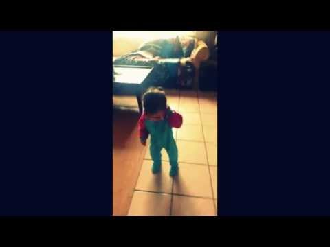 cute baby girl dancing ~ funny baby video