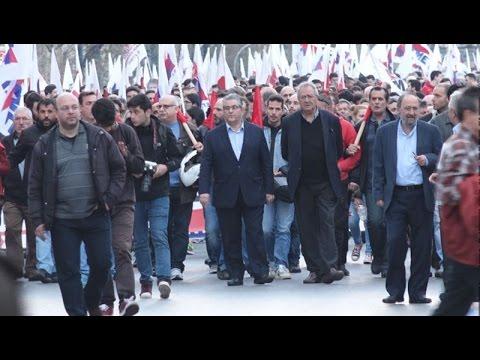 Συλλαλητήριο του ΠΑΜΕ στα Προπύλαια