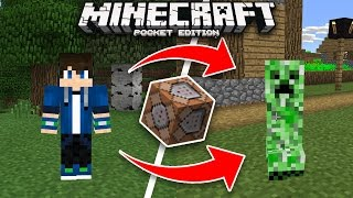 How to Turn Into Any Mob in Minecraft Using Command Blocks! (Pocket Edition, Xbox)