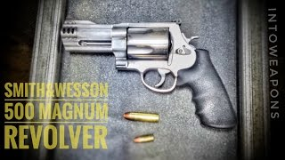 Shooting the Smith and Wesson 500 Magnum Revolver at the Gun Range (https://goo.gl/Xi3BeR), with support on ammo and Gun Rental from Family Shooting Academy of Green Bay.  An amazing revolver, with substantial power behind each round, it makes for one enormous muzzle flash and bang…  Especially indoors!Check out Below for Helpful Links and More Videos!The Smith & Wesson .500 Mag comes to market in numerous configurations of barrel length, porting, and muzzle attachments.  Retail price generally starts around $1000, and .500 Magnum ammunition can range between $2 and $5 per round.  I always prefer wearing gloves when shooting more than 5 rounds with the .500 Magnum, but no gloves are necessary, and I have shot other handguns with harder hitting recoil.  The .500 magnum round has a maximum pressure of 60,000 psi, generating muzzle energy around 2600 ft/lb.  Muzzle velocity can range from 1600-2100 ft/s, and is enough to take down some of the biggest animals in the world with one shot.Overall the S&W500 is an awe inspiring firearm, and one which is always a blast to shoot at the range!  HELPFUL LINKS:**S&W 500 Magnum PARTS & Accessories:  https://goo.gl/3nF5nT**AR500 .500 Mag Capable Swinging STEEL TARGET:  https://goo.gl/Xi3BeR**DELUXE Universal Pro Gun Cleaning Kit:  https://goo.gl/qeIy9Q--VIDEO on S&W 500 Magnum CATASTROPHIC Failure:  https://youtu.be/a2I5tSFGC4M?list=PLzFUxuBF07AbwJJRSIMSugPLUsZYv0_VI--PLAYLIST on all Smith and Wesson Gun Videos:  https://goo.gl/9LFBJWThanks for Watching, and don't forget to Like, Share, and Subscribe!  MOST POPULAR Videos:  https://goo.gl/UqPGF3ALL PLAYLISTS:  https://goo.gl/jYIdR0 FIND IntoWeapons HERE:Facebook:  https://www.facebook.com/IntoWeapons/Google+:  http://plus.google.com/+intoweaponsInstagram: http://www.instagram.com/intoweapons/ SPONSORS of IntoWeapons:--Family Shooting Academy, Green Bay WI - Public Indoor Range:  https://goo.gl/m46Pmz                                           All Rights Reserved © 2017 IntoWeapons 