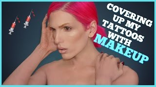 COVERING UP MY TATTOOS WITH MAKEUP | Jeffree Star by Jeffree Star
