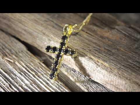 Black Mini Cross CZ Necklace | Hip Hop Necklaces | King Ice