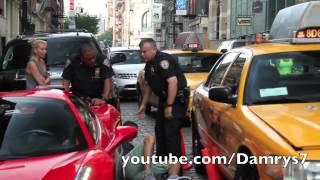 Ferrari 458 Spider Runs Over Cop