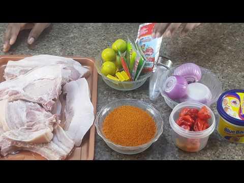 Delicious Grilled Pork/Nigerian FOOD/Barbecue Pork