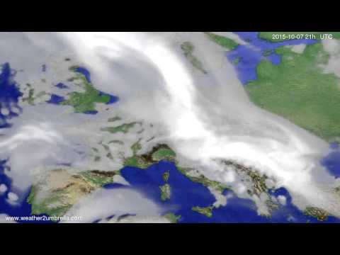 Cloud forecast Europe 2015-10-04