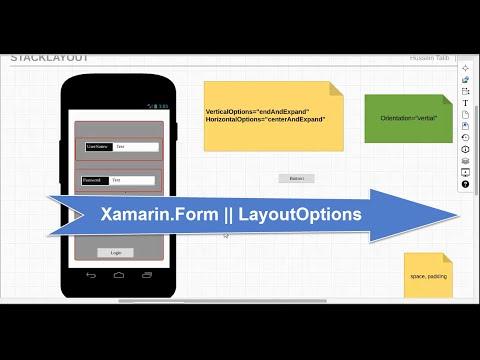 9-  Xamarin.Form || LayoutOptions || تصميم النوافذ