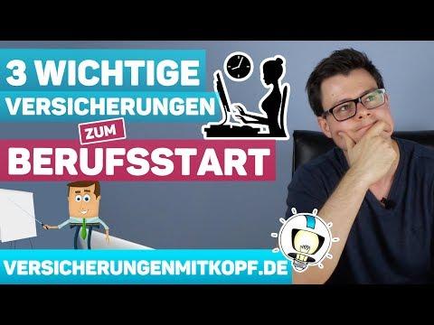 3 WICHTIGE Versicherungen zum BERUFSSTART!