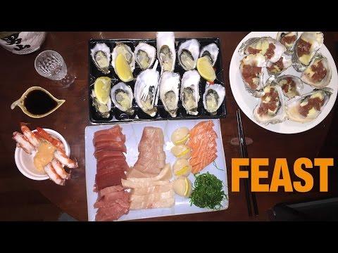 Homemade Sashimi & Oysters