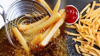 french fries at home   فنگر چپس  Village Food Season