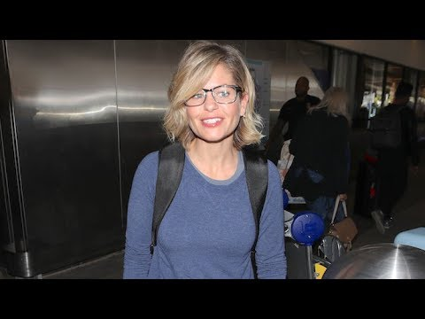 Candace Cameron Bure Gives Pap Workout Tips At LAX