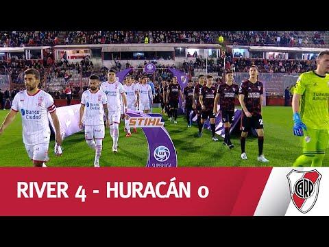 UNA MÁQUINA: River goleó a Huracán en una actuación memorable