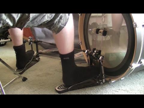 Double Stroke Kick Drumming - Double Pedal (Heel-Toe Technique)