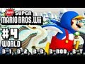 New Super Mario Bros Wii - Co-Op - Part 4 World 3-1, 3-2, 3-3, 3-Boo House, & 3-Tower
