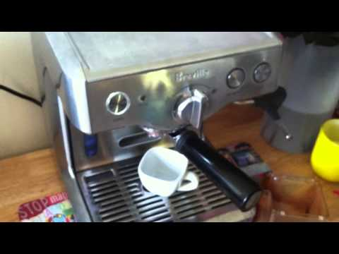 Beville 800ESXL Espresso Machine  Full Length (Real Time No Edit recorded on iPhone 4))