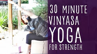 Video 30 Minute Vinyasa Yoga for Strength with Fightmaster Yoga MP3, 3GP, MP4, WEBM, AVI, FLV Maret 2018