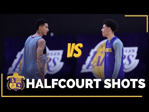 Video: Lonzo Ball vs. Kyle Kuzma: Half-Court Shots