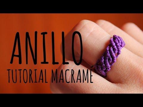 anello ondulato in macramè