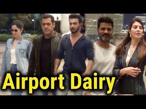 Airport Dairy | Salman Khan, Jacqueline Fernandez, Katrina Kaif, Aayush Sharma, Prabhu deva, Sunny