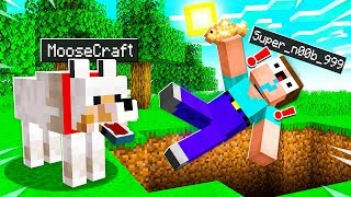 I DISGUISED As A WOLF To PRANK MY NOOB FRIEND in MINECRAFT! (IT WORKED)