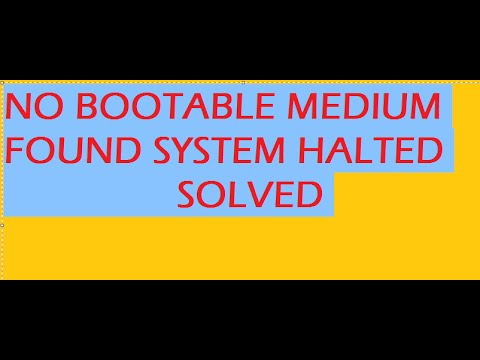 FATAL: No bootable medium found! System halted FIXED