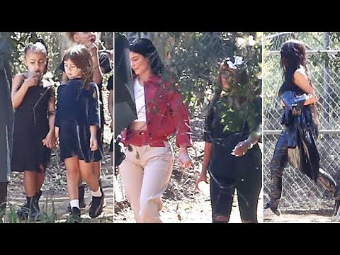 Kylie Jenner And Her New BFF Meet Kim, Kourtney, Scott And Nori At Sunday Services