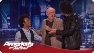 Howard's Dad Talks to Ronald Charles - America's Got Talent Season 7 Audition