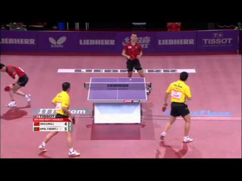 lin - Review all the highlights from the Ma Lin/Hao Shuai vs Tiago Apolonia/Joao Monteiro Men's Doubles round of 16 match at the 2013 World Table Tennis Championships in Paris, France. ©TMS Internatio...