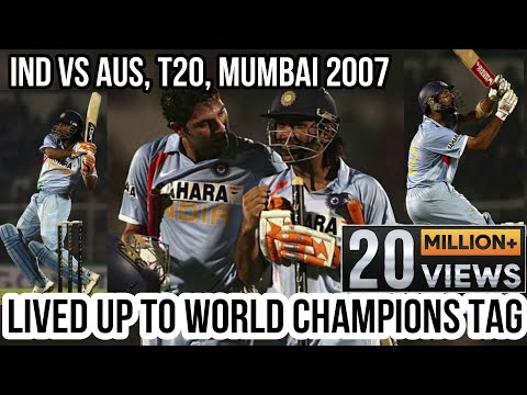 India vs Australia @ Mumbai T20 2007 Highlights