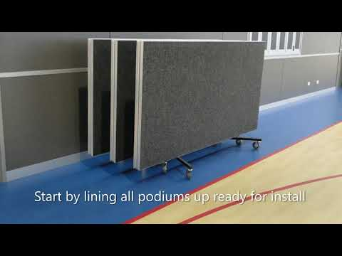 How to assemble DIVA Fold & Roll Portable Stage with Modular Step Unit by Select Staging Concepts