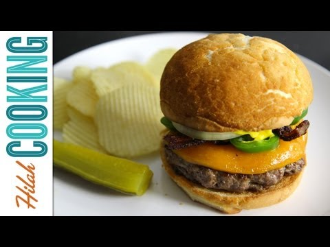 hilahcooking - Learn how to make a Jalapeño Bacon Cheeseburger in this