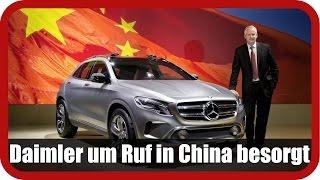 DAIMLER AG NA O.N. Daimler um Ruf in China besorgt