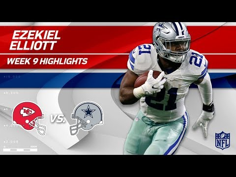 Video: Ezekiel Elliott's 27 Carries, 93 Yards & 1 TD vs. KC! | Chiefs vs. Cowboys | Wk 9 Player Highlights